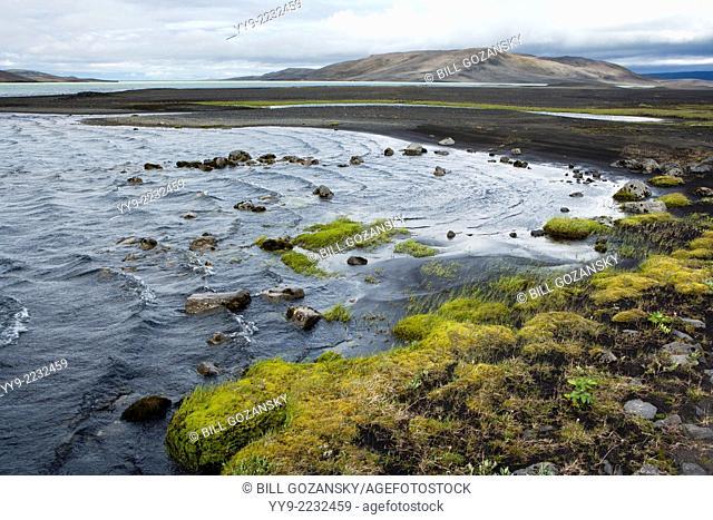 Lake in Landmannalaugar Region - Southern Highlands - Iceland