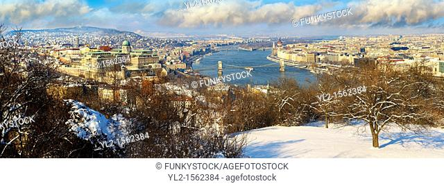 Panoramic view of Budapest and the Danube, Hungary