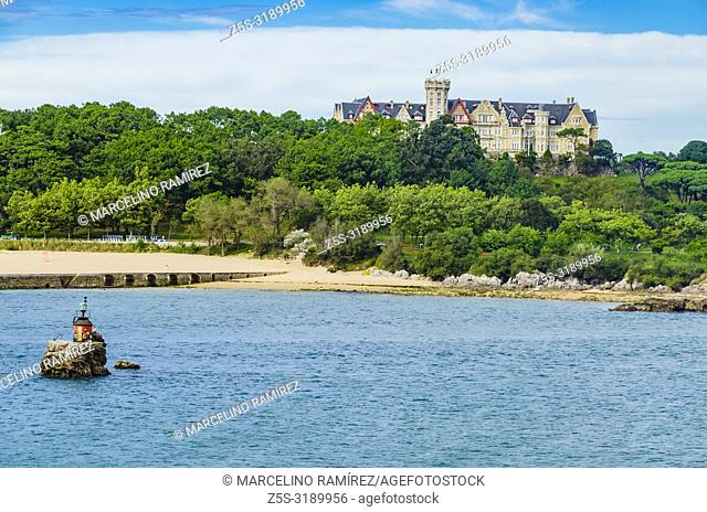 The Palacio de la Magdalena is a palace located on the Magdalena Peninsula of the city of Santander, Cantabria, Spain