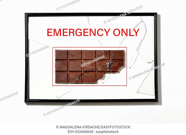 Abstract Chocolate in Hose Cabinet Red Color Emergency Equipment