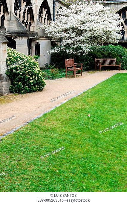 Garden in Gloucester Cathedral