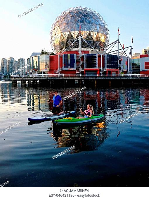 Summer vacation. Vancouver downtown. British Columbia. Canada