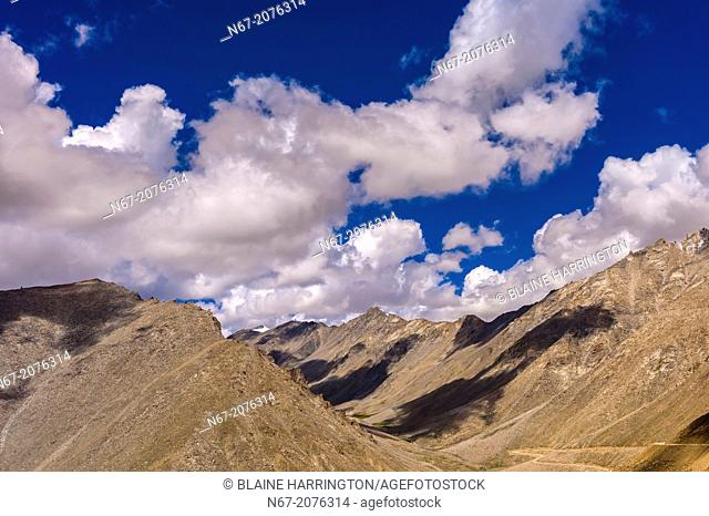 Khardungla Pass. At 18, 379 feet, the pass is the highest motorable road in the world. Ladakh, Jammu and Kashmir State, India