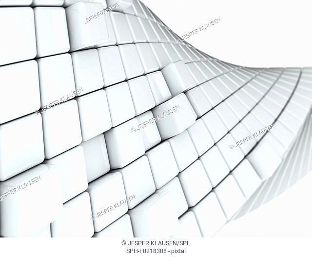 White cubes, illustration