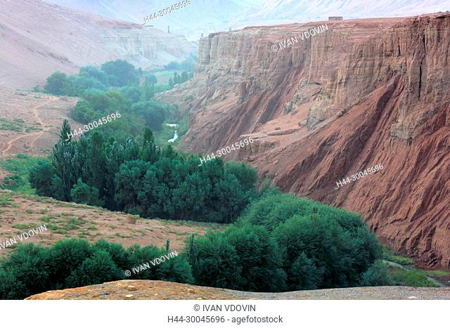Flaming Mountains, Bezeklik Caves, Xinjiang Uyghur Autonomous Region, China