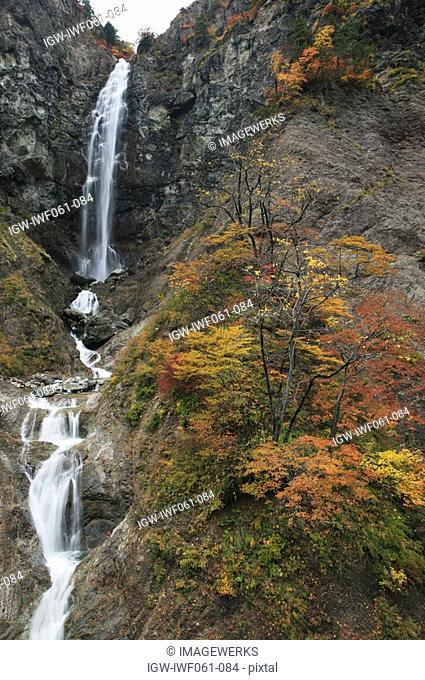 Japan, Ishikawa Prefecture, Fukube Falls