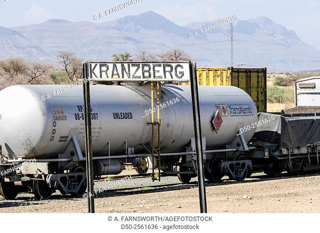 KRANZBERG, NAMIBIA Train depot in Kalahari