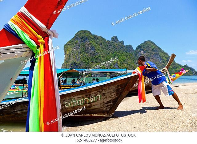 Ko Tapu Island - James Bond Island  Phang Nga Bay, Andaman Sea, Thailand, Asia