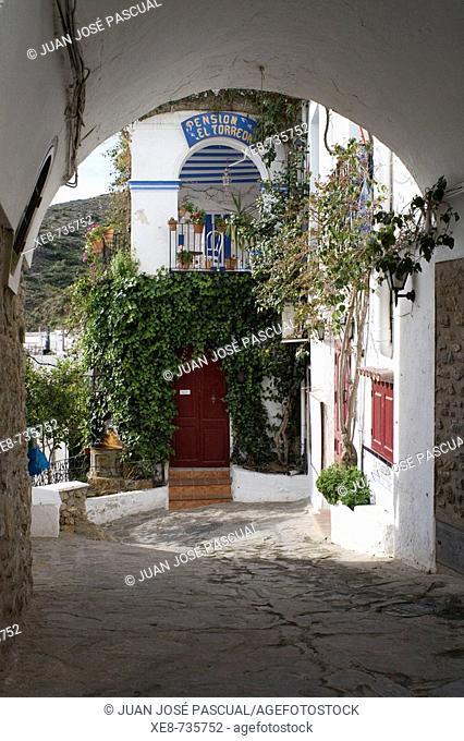 Town gate, Mojacar. Almeria province, Andalucia, Spain