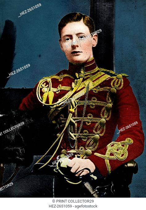 'Soon he was a dashing subaltern in the 4th Hussars', 1895, (1945). Artist: Unknown