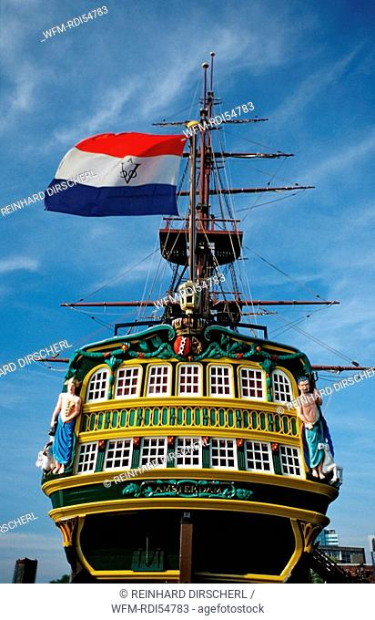 Sailing-ship Amsterdam, Holland Amsterdam, The Netherlands