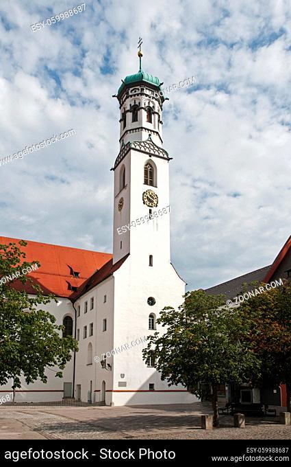 the Sint Martns church in the German place Memmingen