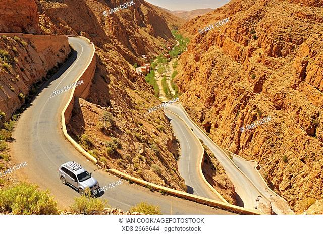 HIghway 704 in Dades Gorge, Morocco