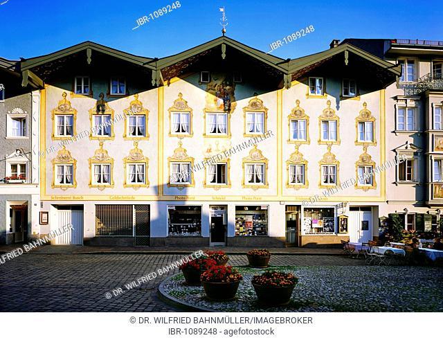 Market street, Bad Toelz, Upper Bavaria, Bavaria, Germany, Europe