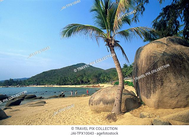 China, Hainan Island, Sanya, Beach Scene at Tianya-Haijiao Tourist Zone