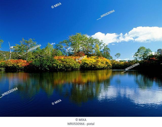 Daisetsu Highland and Ezo Pond, Kamikawa, Hokkaido, Japan