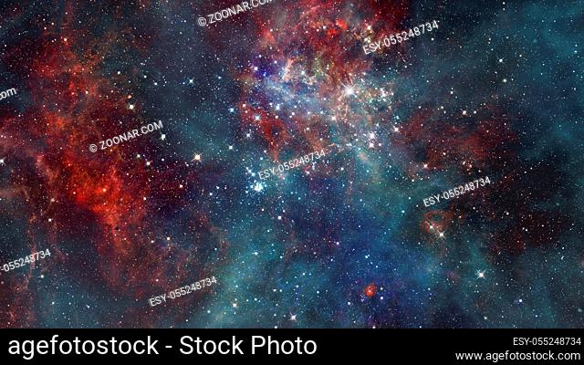Reflection nebula the site of star formation. Elements of this image furnished by NASA