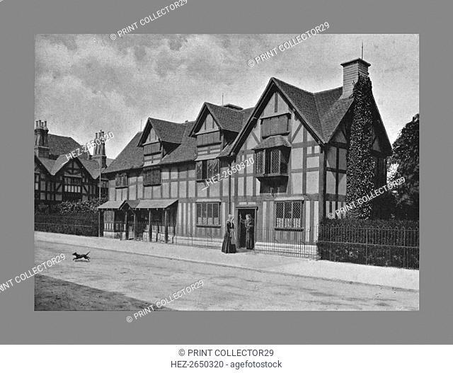 Shakespeare's House, Stratford-on-Avon, c1900. Artist: Harvey Barton