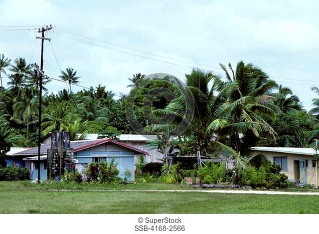Cook Islands, Niue Island, Alofi,Typical Houses