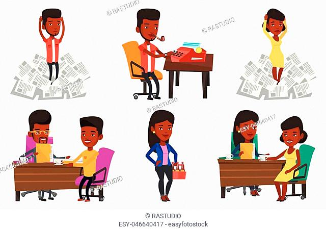 Two african women during business meeting. Businesswomen talking on business meeting. Women drinking coffee on business meeting