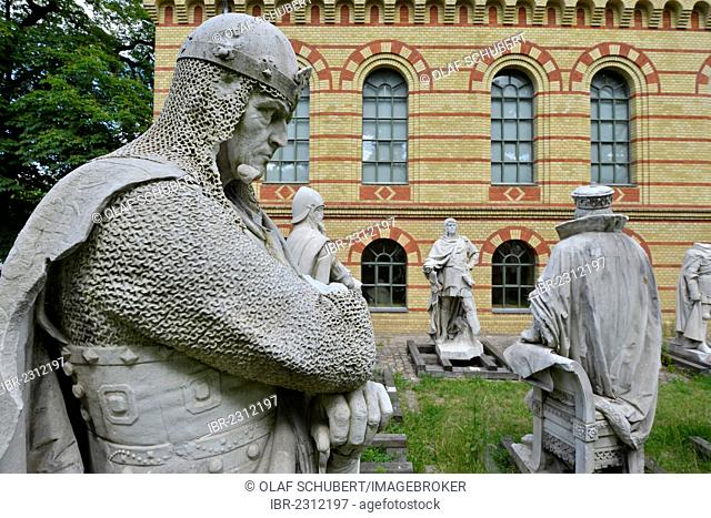 Stored monuments, some destroyed during the Second World War of the Siegesallee, Victory Avenue, Victory Column Berlin, statues of old rulers, Spandau, Citadel