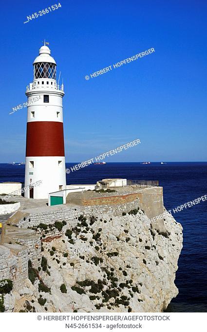 Lighthouse on Europa Point, Trinity Lighthouse at Europa Point, Victoria Tower, Europa Point, British overseas Territory of Gibraltar, Gibraltar, United Kingdom