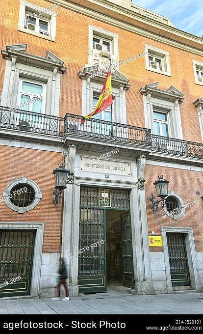 Headquarters of the Ministry of Justice. Madrid, Spain