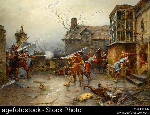 Crofts Ernest - the Gunpowder Plot - the Conspirators' Last Stand at Holbeach House - British School - 19th Century