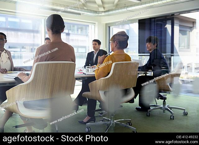 Business people in conference room meeting