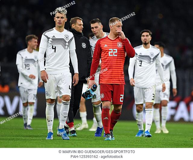after end of game: Robin Koch (Germany), Marc-Andre ter Stegen (Germany). GES / Football / Friendlies: Germany - Argentina, 09.10