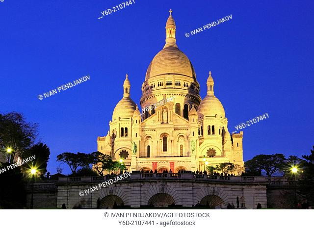 Basilique of the Sacré Coeur, Paris, France