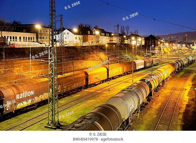 switch yard Hagen-Vorhalle, Germany, North Rhine-Westphalia, Ruhr Area, Hagen