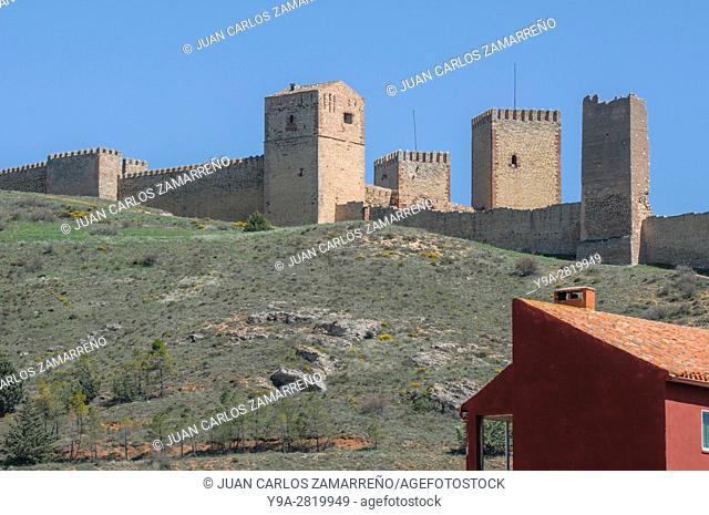 Molina de Aragon castle, XIIth and XIIIth centuries, Ruta del Cid, Cid Route, Molina de Aragon, Guadalajara, Castilla La Mancha, Spain