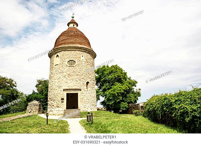 Romanesque rotunda in Skalica, Slovak republic. Architectural theme. Cultural heritage. Travel destination. Beautiful place