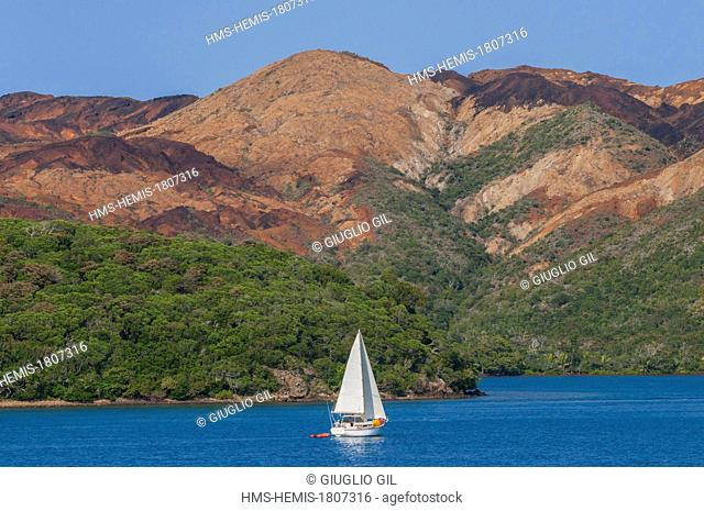 France, New Caledonia, Grande Terre, South province, Bay of Prony by off shore view