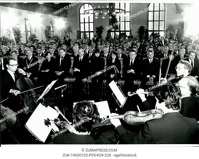 September 30, 1980 - Funeral Service In Munich For The Victimes Of The Bomb Attempt At Munich Oktoberfest: On September 30th