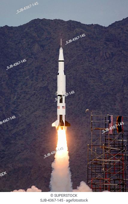 Saturn V Model Launches