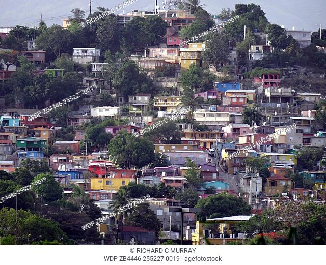 Houses on Hill-Yauco, Puerto Rico