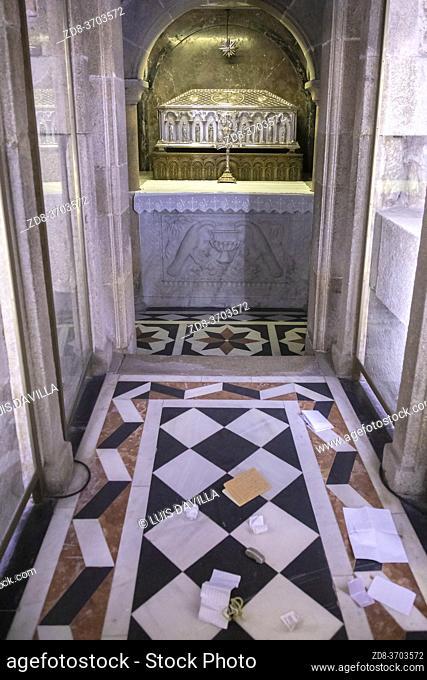 tomb of the apostle. Cathedral of Santiago. santiago de compostela. galicia. spain