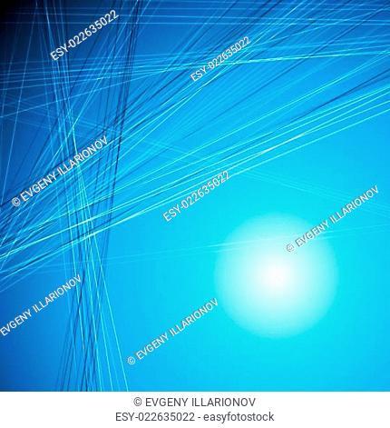 Bright blue tech design