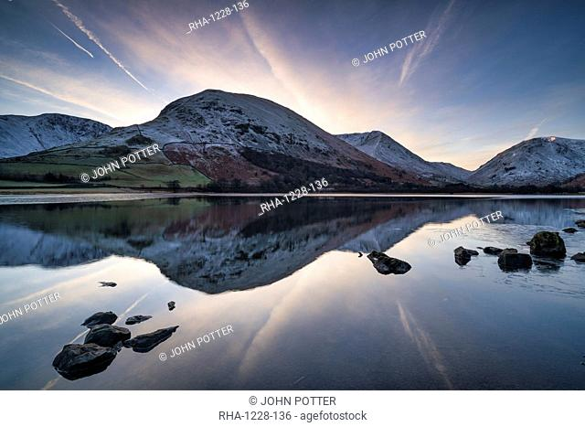 Sunrise over Brothers Water and Hartstop in Cumbria, The English Lake District, England, United Kingdom, Europe