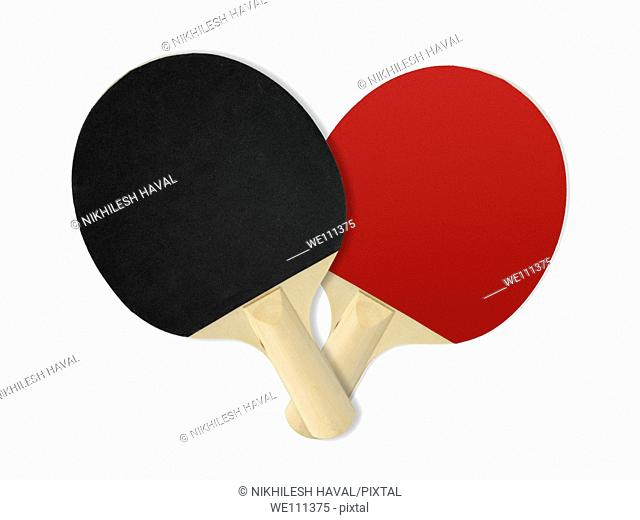 Black Red Table tennis rackets