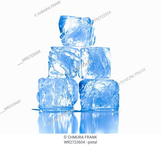 block, blue, clean, clear, cold, cool, cube, fresh, freshness, frost, frozen, ice, ice-cube, melting, reflection, refreshment, square, studio, translucent