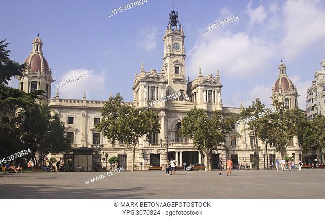 Town Hall, Plaza del Ayuntamiento, Valencia, Spain
