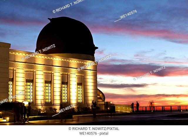 Art Deco Architecture of the Griffith Observatory in Griffith Park, Los Angeles, California