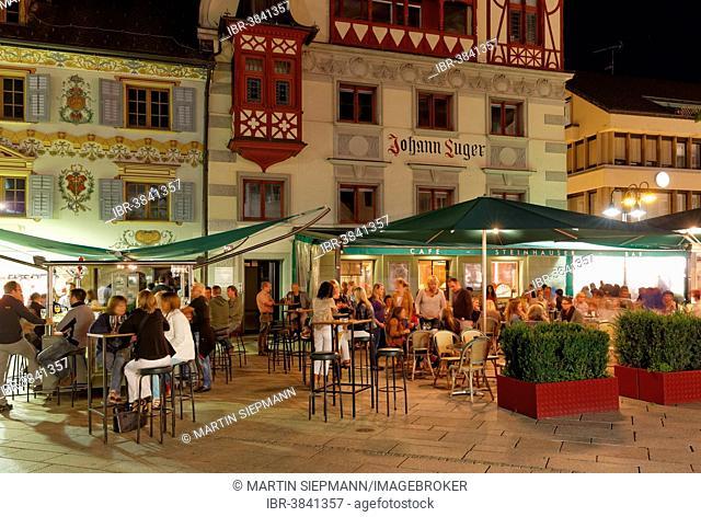 Steinhauser-Haus building, market square, Dornbirn, Vorarlberg, Austria