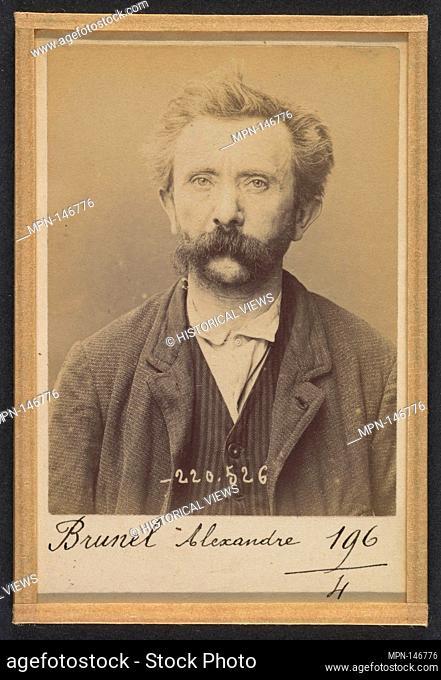Bordes. Guillaume, Auguste. 40 ans, né à Centrayes (Aveyron). Tailleur. Pas de motif. 29/2/94. Artist: Alphonse Bertillon (French