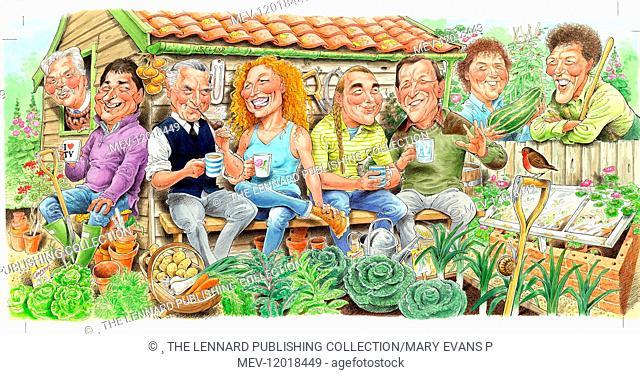 Geoffrey Smith, Alan Titchmarsh, Percy Thrower, Charlie Dimmock, Bob Flowerdew, Geoff Hamilton, Diarmuid Gavin, Monty Don - TV Celebrity Gardeners