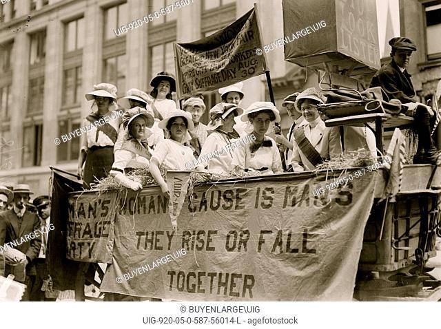 Suffrage Hay Wagon 1915