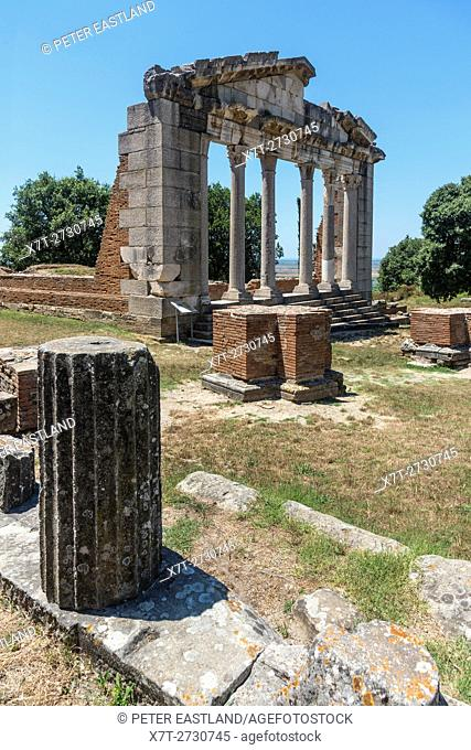 The Monument of Agonothetes at Apollonia near Fier in central Albania